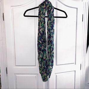 Green/blue/purple circle scarf